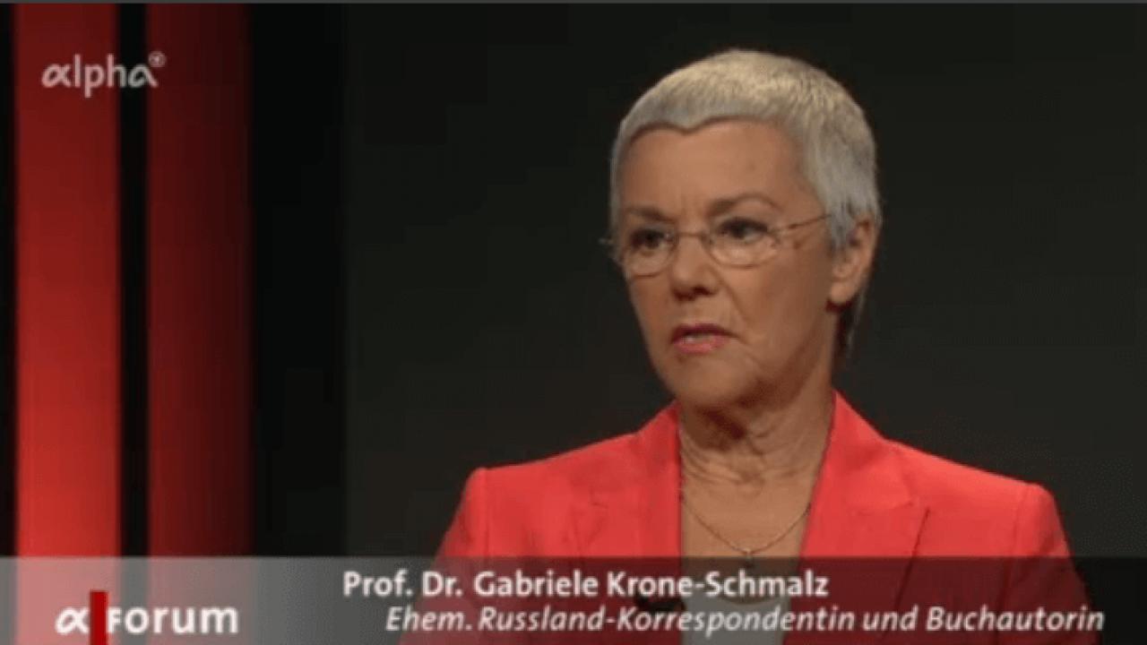 Russlandexpertin Gabriele Krone-Schmalz – ARD-alpha