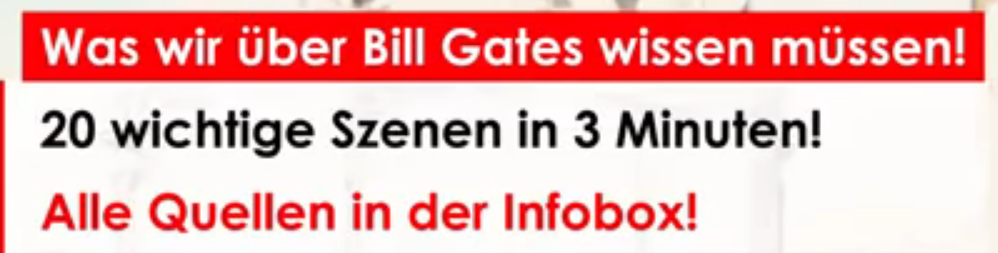 20 wichtige Aussagen von Bill Gates in drei Minuten